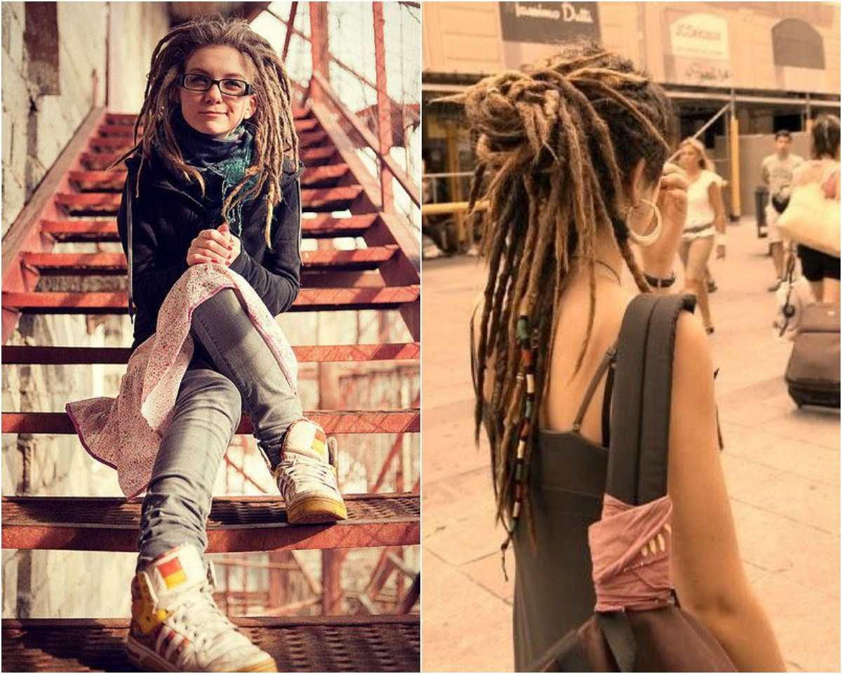 Lange Dreadlocks-for-White-Frauen
