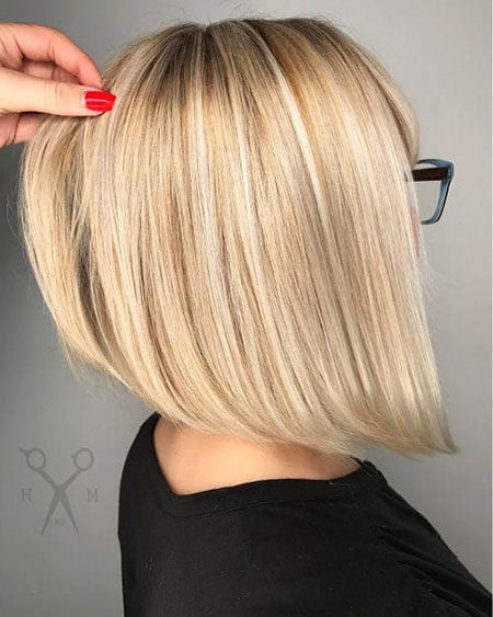 Bob Blonde Angled Chopped