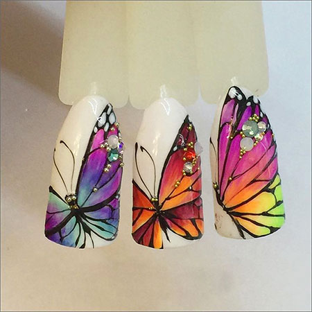 Maniküre Nail Butterfly Nails