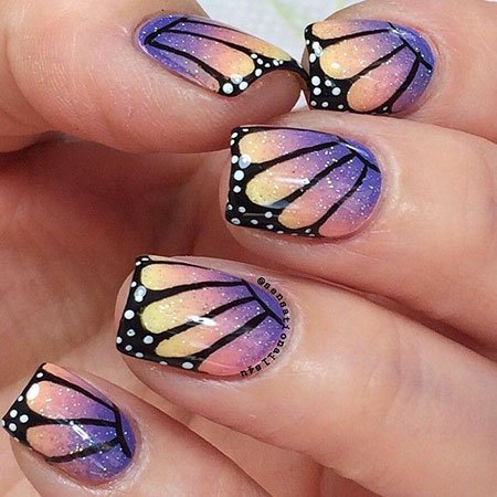 Butterfly Nail Art Effect