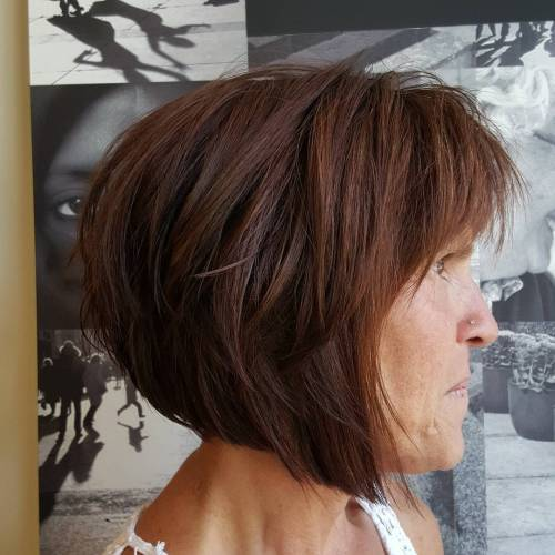Brown Layered Angle Bob