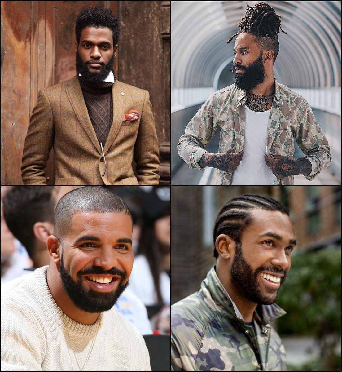 best-black-men-frisuren-with-beards-2017
