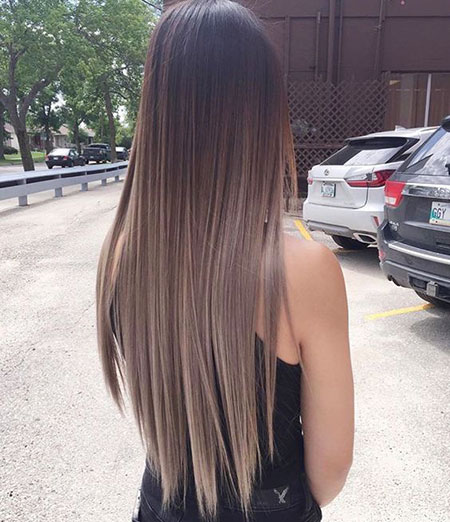 Hair Ombre Balayage Long