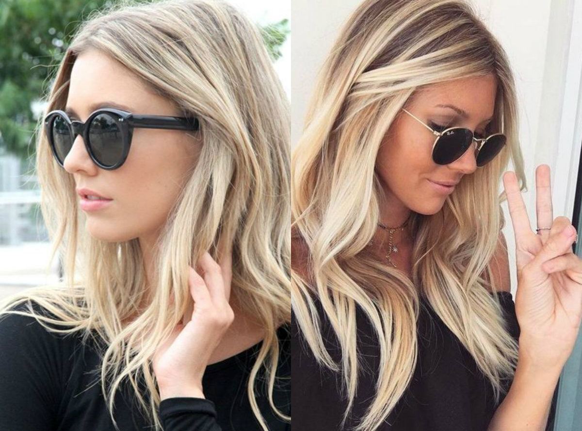 street-style-medium-length-blonde-Frisuren-2017