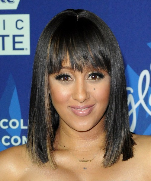 Tamera-Mowry-Medium-Straight-Bob-Frisur