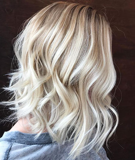Haar Blonde Lob-Frisuren