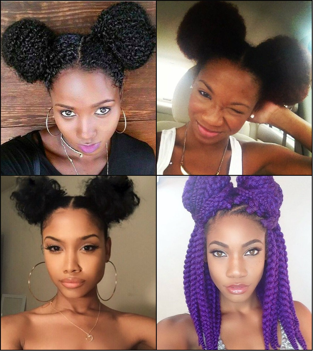 best-black-women-double-bun-frisuren-2017