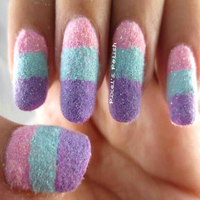 Exquisite Pastell Flocking Powder Ombre
