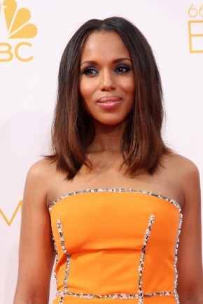 Kerry Washington mittlere Frisuren 2015