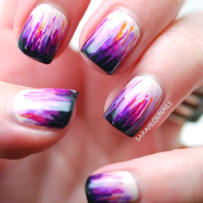 Waterfall Nails Colourful French