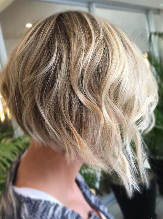 Blown O ut Angled Bob Frisuren 2018
