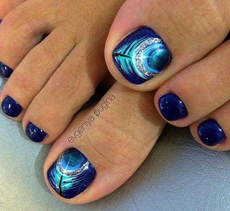 Nail Art Toes Glamour