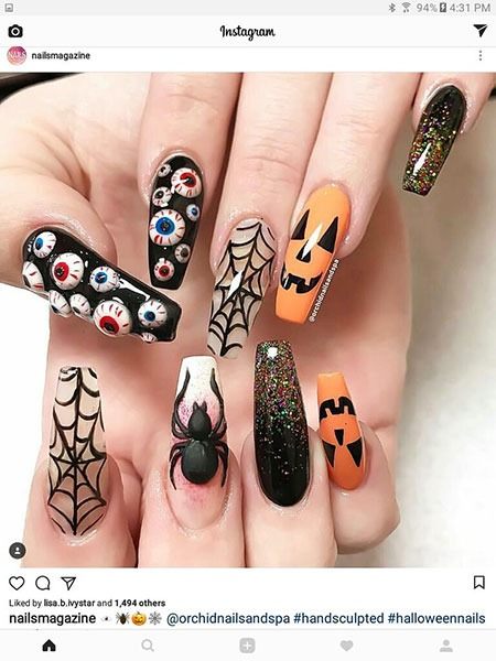 Halloween Nail Art Awesome