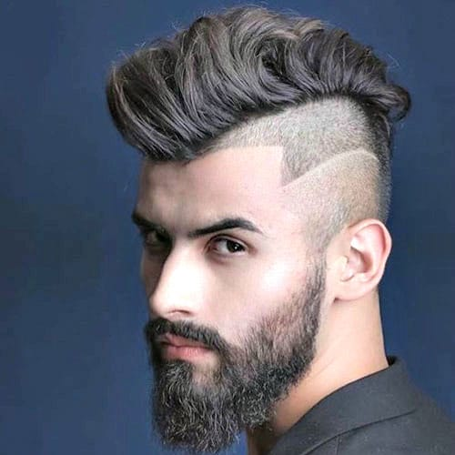 Undercut Haircut mit Mohawk und Hair Design