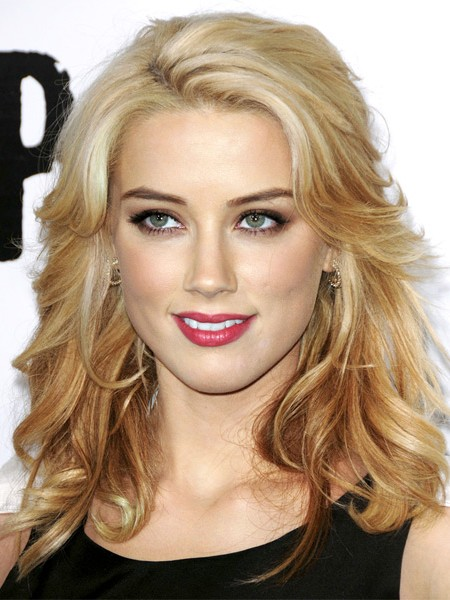 Amber Heard welliger Ombre lob 2019