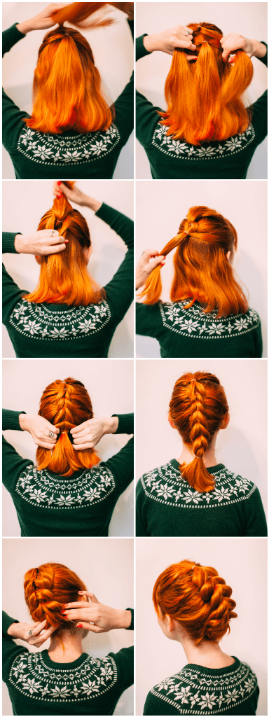 Faux Braid Updo