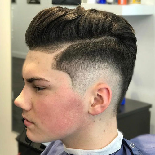 Burst Fade Comb Over Pomp