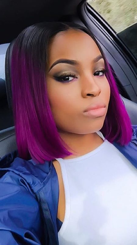 Purple Ombre Bob