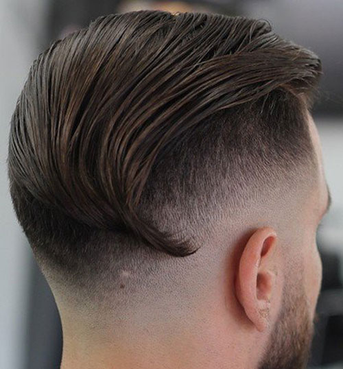 Mens Undercut - Slicked Back Long Undercut