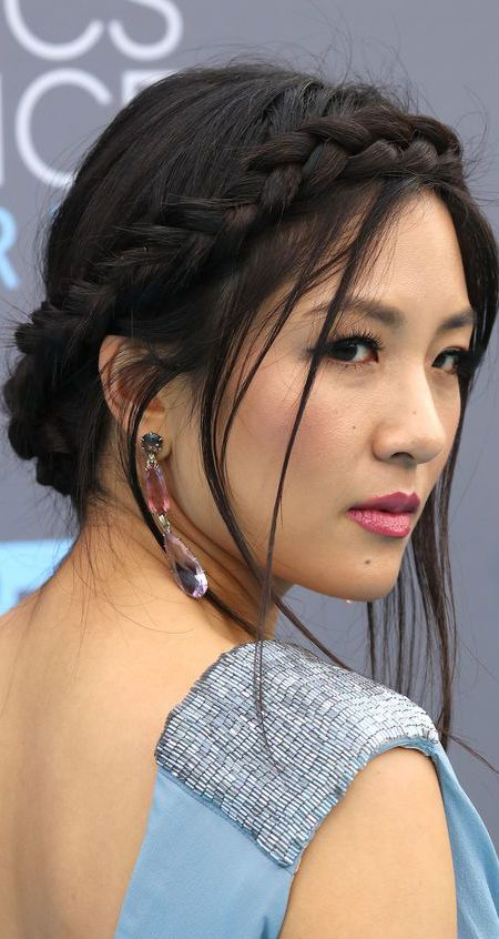 Constance Wu Crown Braid über