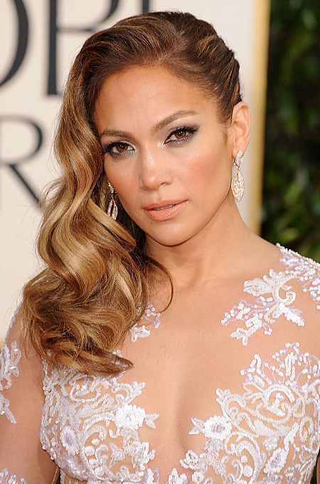 wellige Seite parted hair Jennifer Lopez 2019