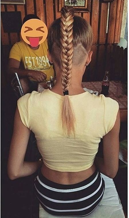 Braid and Buzz Haircut