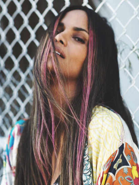 Halle Berry Purple Streaks