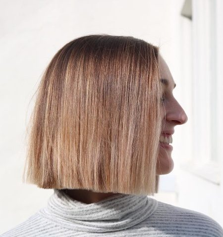 Beach Blonde Sharp Bob