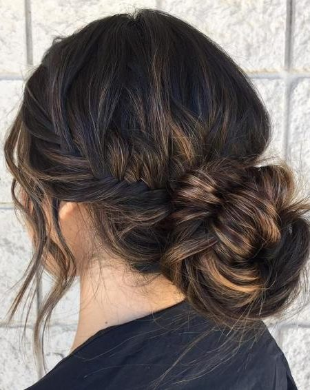 Long Side Braid and Bun