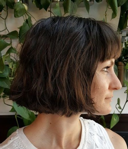 Dark Bob with Bangs