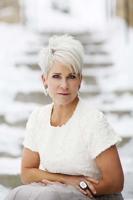 Pixie Hair, Women, Over, 50, Williams, Hochzeit