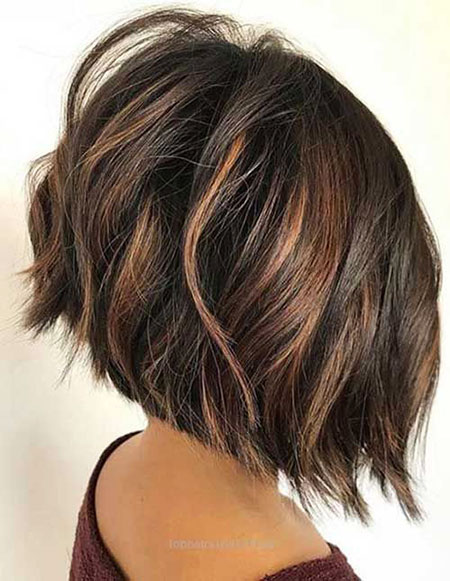 Bob Brunette Balayage Brown
