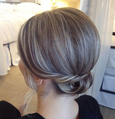 Short Low Updo Mid