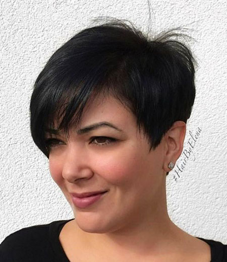Pixie Cut mit Side Bangs, Pixie Layered Bob Side