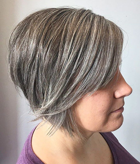 Bob Layered Inverted Grey