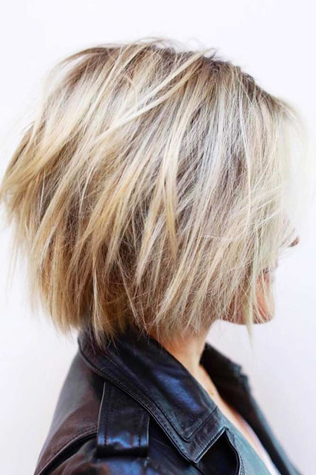 Blonde Short Layered Bob