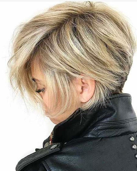 Blonde moderne kurze Haare, Blonde Bob Layered Pixie